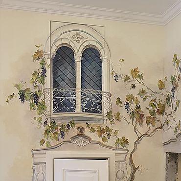 Дизайн и реклама ручной работы. Ярмарка Мастеров - ручная работа Декор дверей и люка. Handmade.
