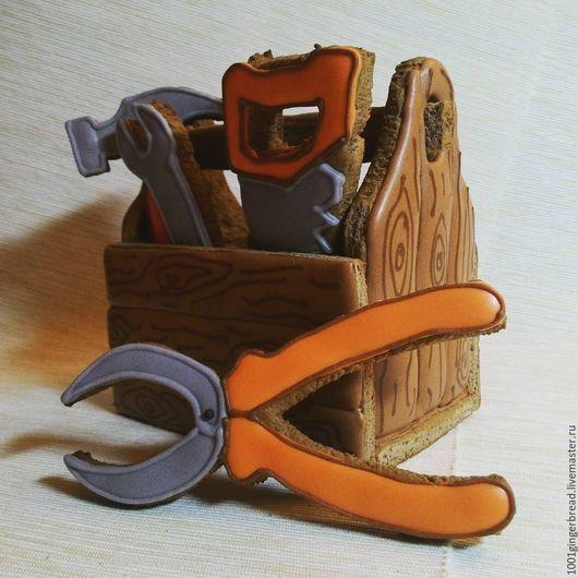 Праздничная атрибутика ручной работы. Ярмарка Мастеров - ручная работа. Купить Пряники. Подарок мужчине. Инструменты.. Handmade. Коричневый, инструменты