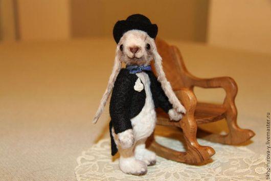 Мишки Тедди ручной работы. Ярмарка Мастеров - ручная работа. Купить Кролик Франт. Handmade. Белый, белый кролик, зайка