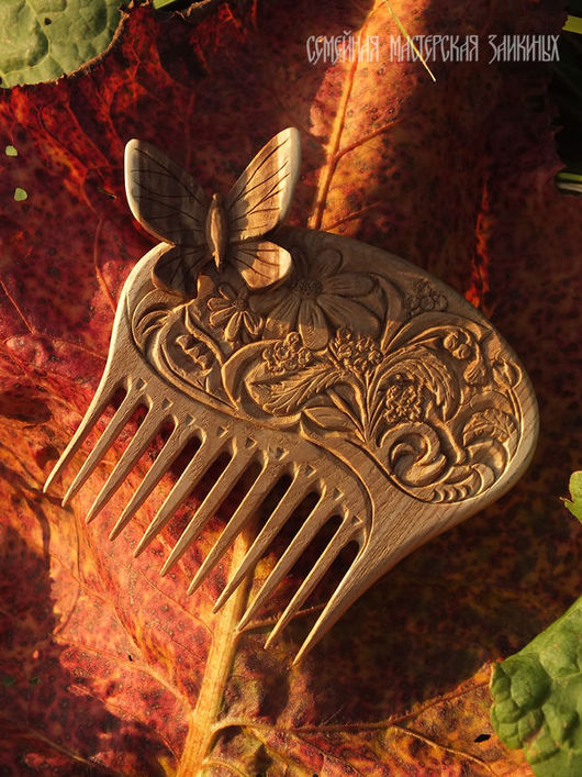 Гребни, расчески ручной работы. Ярмарка Мастеров - ручная работа. Купить Деревянный гребень Летняя сказка. Handmade. Гребень для волос