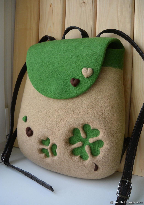 9ec098f09031 Ольга Рюкзаки ручной работы. Заказать Рюкзак валяный 'Грейс', рюкзак  войлочный зеленый яркий.