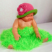 Работы для детей, ручной работы. Ярмарка Мастеров - ручная работа шапочка для фотосессии новорожденных (фотосессия шапка реквизит). Handmade.
