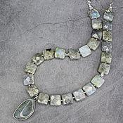 Украшения handmade. Livemaster - original item Necklace with pendant natural stone Labrador. Handmade.