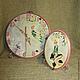 «А вы верите в фей?» Часы в детскую (диаметр 24,5 см.). и вешалка-панно (17х12 см.) МамиНа мастерская. Ярмарка мастеров.
