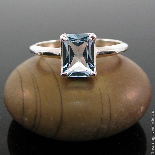 Кольца ручной работы. Ярмарка Мастеров - ручная работа. Купить Топаз кольцо серебро (8х6 мм). Handmade.