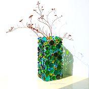 Для дома и интерьера handmade. Livemaster - original item Vases: Summer glass fusing. Handmade.
