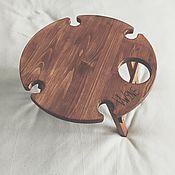 Столы ручной работы. Ярмарка Мастеров - ручная работа Складной винный столик «орех». Handmade.