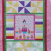 Для дома и интерьера ручной работы. Ярмарка Мастеров - ручная работа Лоскутное покрывало Сладкая жизнь лоскутное одеяло. Handmade.