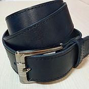 Кожаный ремень под джинсы