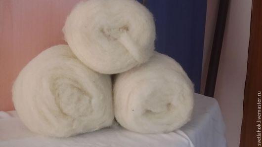 Валяние ручной работы. Ярмарка Мастеров - ручная работа. Купить шерсть для валяния -кардочес. Handmade. Белый, Валяние, шерсть 100%