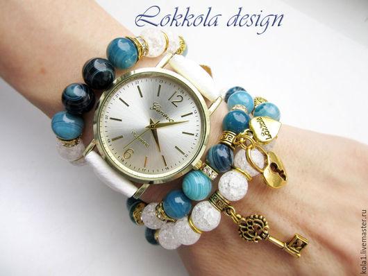 """Часы ручной работы. Ярмарка Мастеров - ручная работа. Купить Часы """"Ключ к замку"""". Handmade. Белый, часы браслет"""