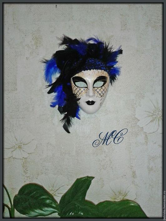 Интерьерные  маски ручной работы. Ярмарка Мастеров - ручная работа. Купить Агата  (маска-декор). Handmade. Тёмно-синий, гипс