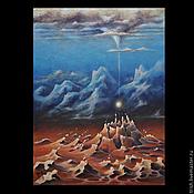 """Картины и панно ручной работы. Ярмарка Мастеров - ручная работа """"Гравитация"""" - часть диптиха - коллекционная картина. Handmade."""
