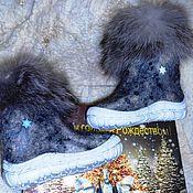 """Обувь ручной работы. Ярмарка Мастеров - ручная работа Детские валенки  """"Рождественские"""". Handmade."""