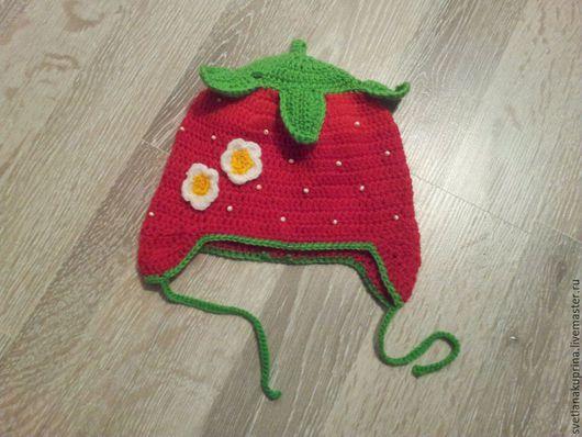 """Для новорожденных, ручной работы. Ярмарка Мастеров - ручная работа. Купить Шапочка """" Сладкая ягодка"""" для девочки. Handmade."""