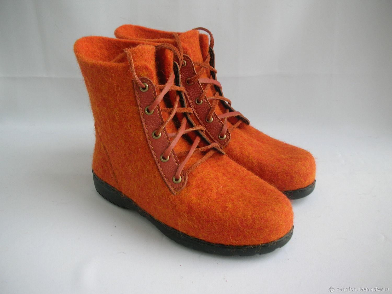 afff79f79 Обувь ручной работы. Ярмарка Мастеров - ручная работа. Купить Валяные  ботинки Мандаринки. Handmade ...
