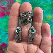 handmade. Livemaster - original item Pero Zhar Ptitsi. Hypoallergenic accessories and colored glass.. Handmade.