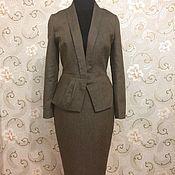 Одежда ручной работы. Ярмарка Мастеров - ручная работа Жакет и юбка из льна. Handmade.