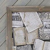 Для дома и интерьера ручной работы. Ярмарка Мастеров - ручная работа Постер в раме `Старые книги`. Handmade.