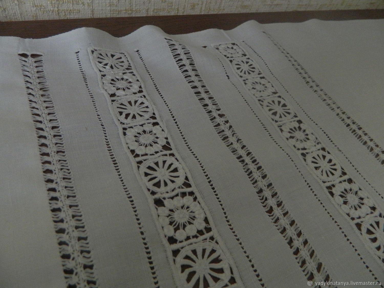 Винтаж: Антикварное полотенце с игольным кружевом – купить на Ярмарке Мастеров – LYY90RU | Предметы интерьера винтажные, Санкт-Петербург