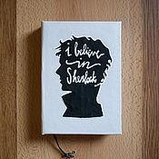 """Канцелярские товары ручной работы. Ярмарка Мастеров - ручная работа Блокнот ручной работы по мотивам сериала """"Шерлок"""". Handmade."""