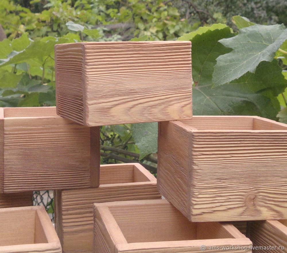 ящик деревянный брашированный для цветов подарка новогоднего декора заказать на ярмарке мастеров Grb0xru воронеж