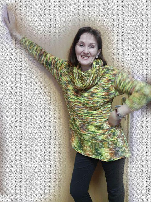 Кофты и свитера ручной работы. Ярмарка Мастеров - ручная работа. Купить Туника Осень. Handmade. Комбинированный, авторская работа, плюшевый