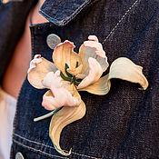 handmade. Livemaster - original item brooches: Tulip Tenderness. Handmade.