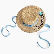 Аксессуары handmade. Livemaster - original item Amore boater hat. Handmade.