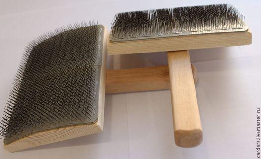 Валяние ручной работы. Ярмарка Мастеров - ручная работа. Купить Кардер ручной для вычесывания шерсти. Handmade. Обработка шерсти, резина
