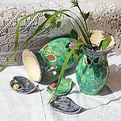 Для дома и интерьера ручной работы. Ярмарка Мастеров - ручная работа Ваза керамическая Листья. Handmade.