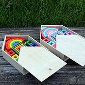 Куклы и игрушки ручной работы. Ярмарка Мастеров - ручная работа Кубики деревянные Большой набор 2 ЦВЕТА. Handmade.