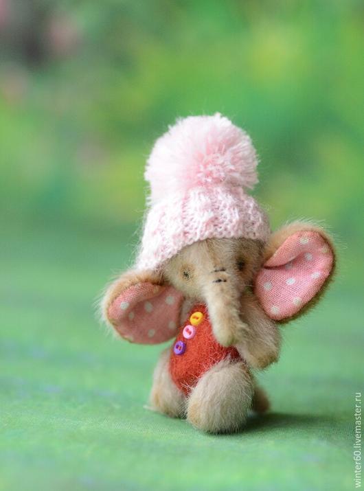 Мишки Тедди ручной работы. Ярмарка Мастеров - ручная работа. Купить Слоник Буся. Handmade. Бежевый, маленький