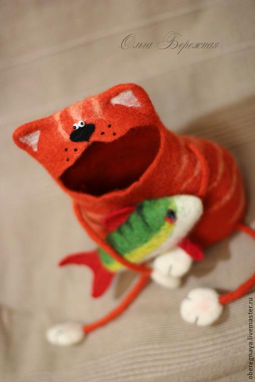 """Шкатулки ручной работы. Ярмарка Мастеров - ручная работа. Купить Шкатулка """"Мартовский кот"""". Handmade. Кот, рыжий кот"""