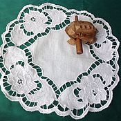 """Для дома и интерьера handmade. Livemaster - original item Салфетка с рисунком  """"Розы"""". Handmade."""