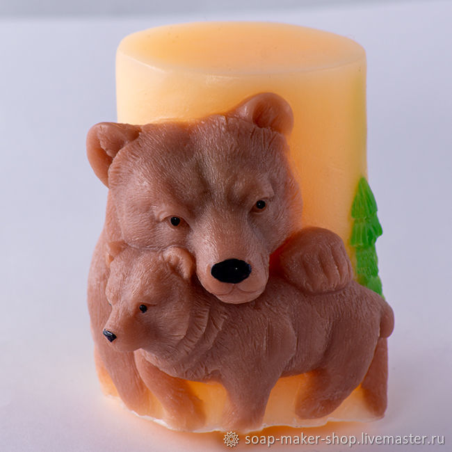 Silicone mold for 'Bears 3D' candle', Creator\\\'s Kit, Shahty,  Фото №1