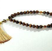 Фен-шуй и эзотерика handmade. Livemaster - original item Beads of tiger eye