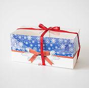 Материалы для творчества ручной работы. Ярмарка Мастеров - ручная работа Прямоугольные новогодние коробочки М93. Handmade.
