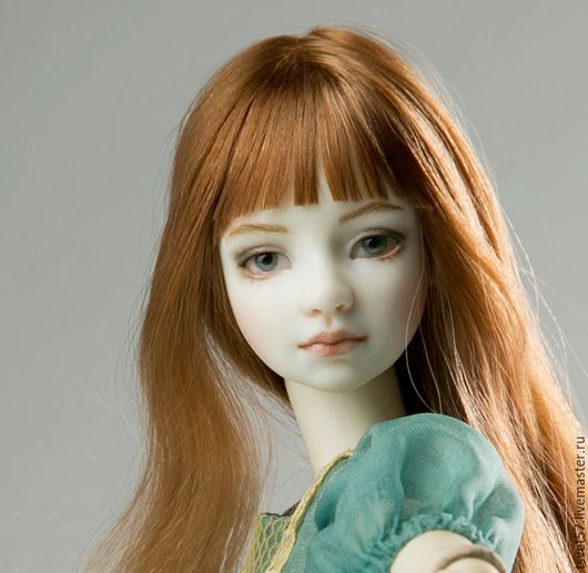 """Коллекционные куклы ручной работы. Ярмарка Мастеров - ручная работа. Купить Шарнирная фарфоровая кукла """"Нежный возраст"""", аквамарин. Handmade."""