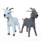 Куклы и игрушки handmade. Livemaster - original item Tilly the Goat and Willy the Goat. Handmade.
