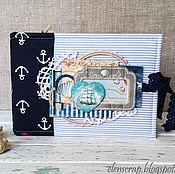"""Канцелярские товары ручной работы. Ярмарка Мастеров - ручная работа Фотоальбом """"Синее море"""". Handmade."""