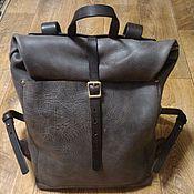 Сумки и аксессуары handmade. Livemaster - original item Backpack-twist of genuine leather. Handmade.