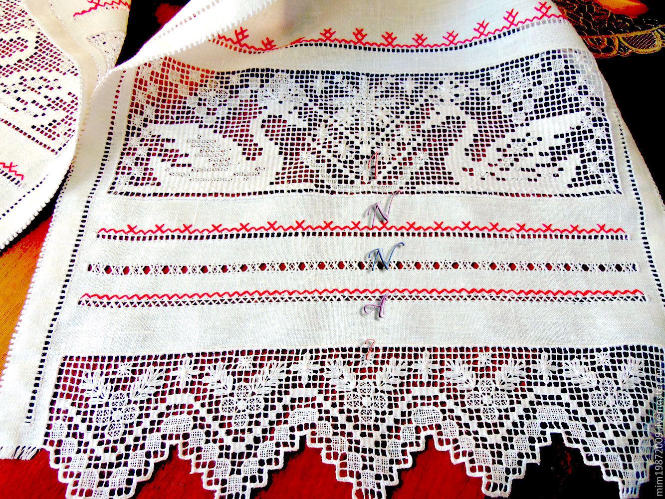 Ручная вышивка рушники