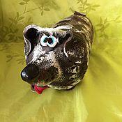 """Сувениры и подарки ручной работы. Ярмарка Мастеров - ручная работа Копилка """"ТАКСА"""" глиняная. Handmade."""