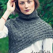 "Одежда handmade. Livemaster - original item Knit Woollen Snood ""Grey Celtic"". Handmade."