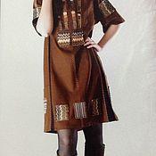 Одежда ручной работы. Ярмарка Мастеров - ручная работа Льняное платье Мексика. Handmade.