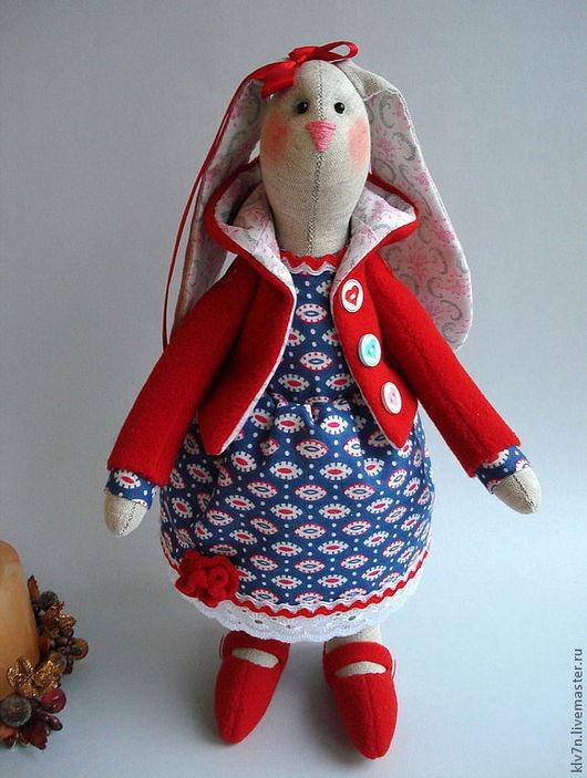 Куклы Тильды ручной работы. Ярмарка Мастеров - ручная работа. Купить Тильда зайка. Handmade. Зайка тильда, заяц текстильный