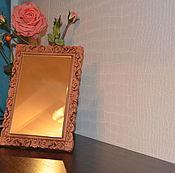 Для дома и интерьера ручной работы. Ярмарка Мастеров - ручная работа Зеркало в резной рамке. Handmade.