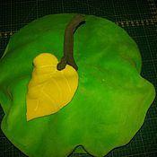 Одежда ручной работы. Ярмарка Мастеров - ручная работа Берет  Зелёное яблоко / Апельсин. Handmade.