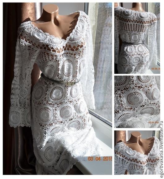 """Платья ручной работы. Ярмарка Мастеров - ручная работа. Купить платье """"ШИК"""". Handmade. Платье, вязаное платье, вязанное платье"""